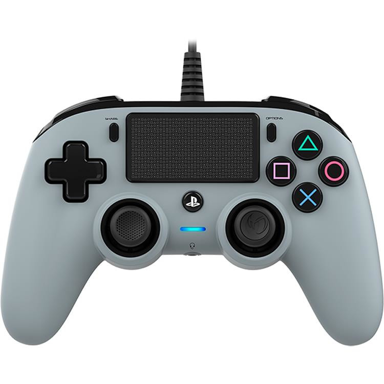 Controller Nacon Wired Compact Color Edition Silver Ps4 0