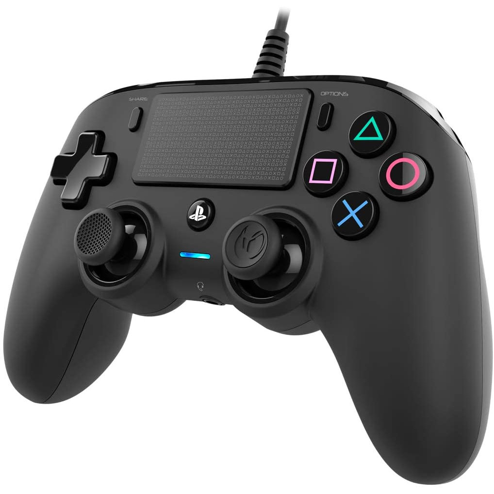 Controller Nacon Wired Compact Color Edition Black Ps4 6