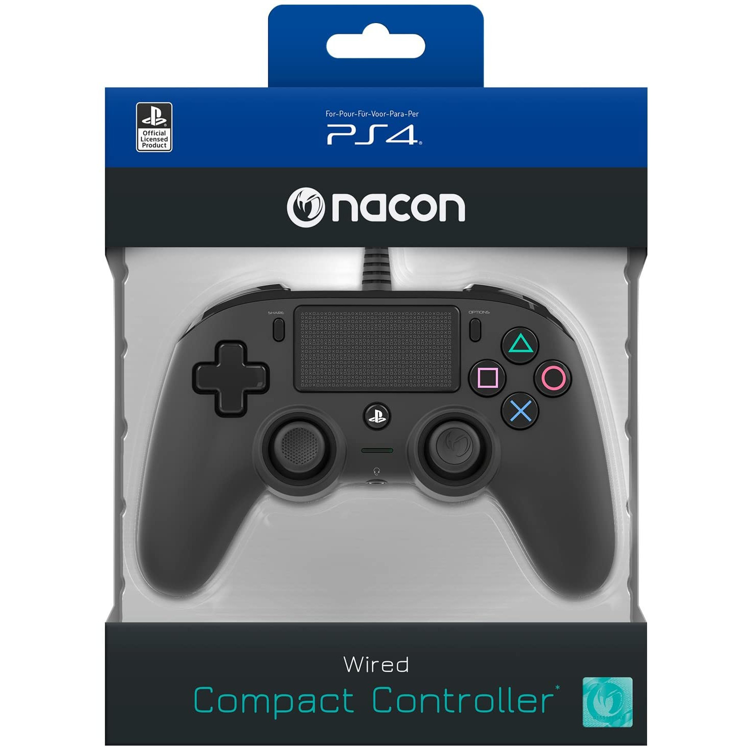 Controller Nacon Wired Compact Color Edition Black Ps4 3