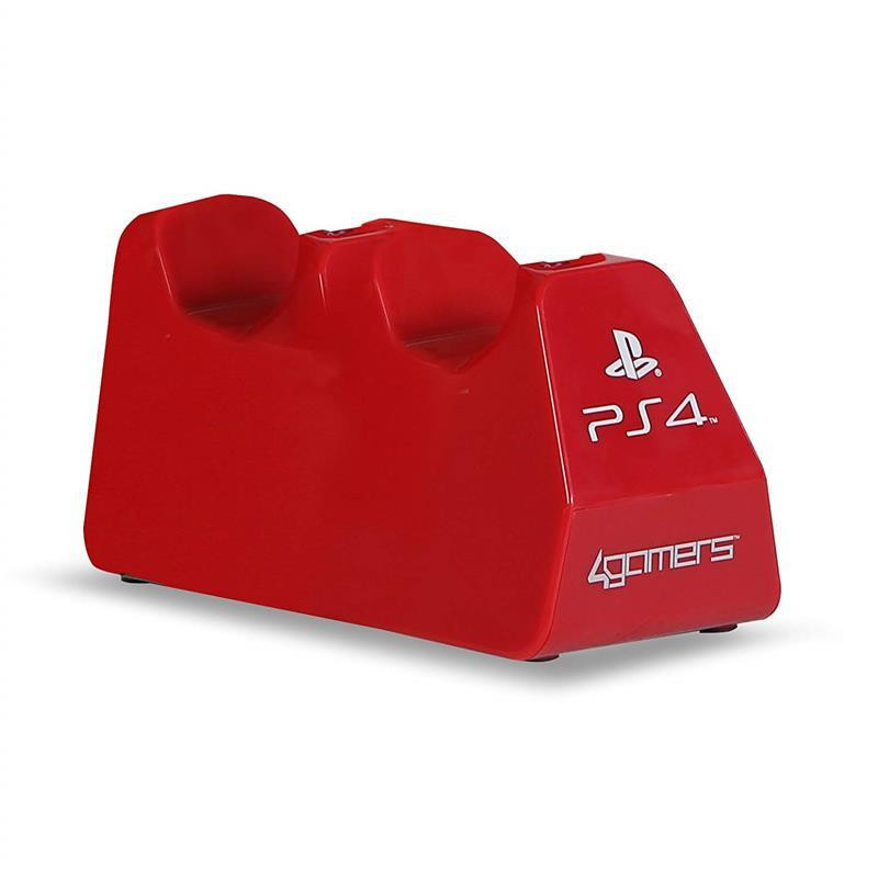 Stand Sony Officially Licensed 4Gamers Dual Controller Charging Stand Red Ps4 0
