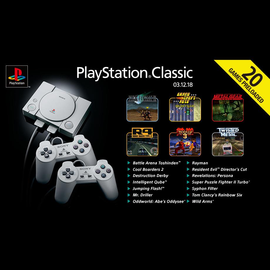 Consola Sony Playstation Classic + 20 jocuri preinstalate 9