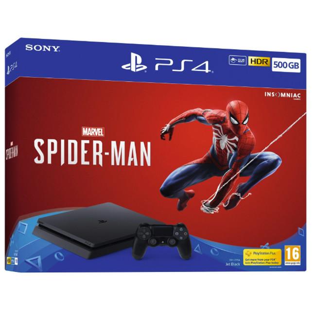 Consola SONY PS4 500GB CONSOLE + MARVEL'S SPIDER-MAN BUNDLE - Negru 0