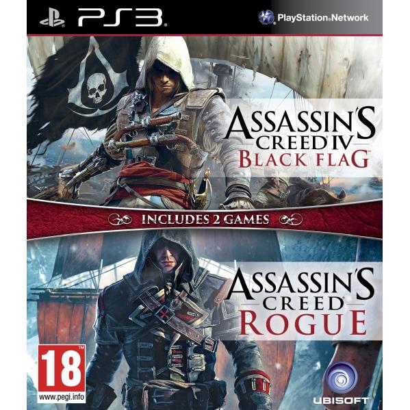 Joc Assassins Creed 4 Black Flag & Assassins Creed Rogue Compilation pentru PlayStation 3 0