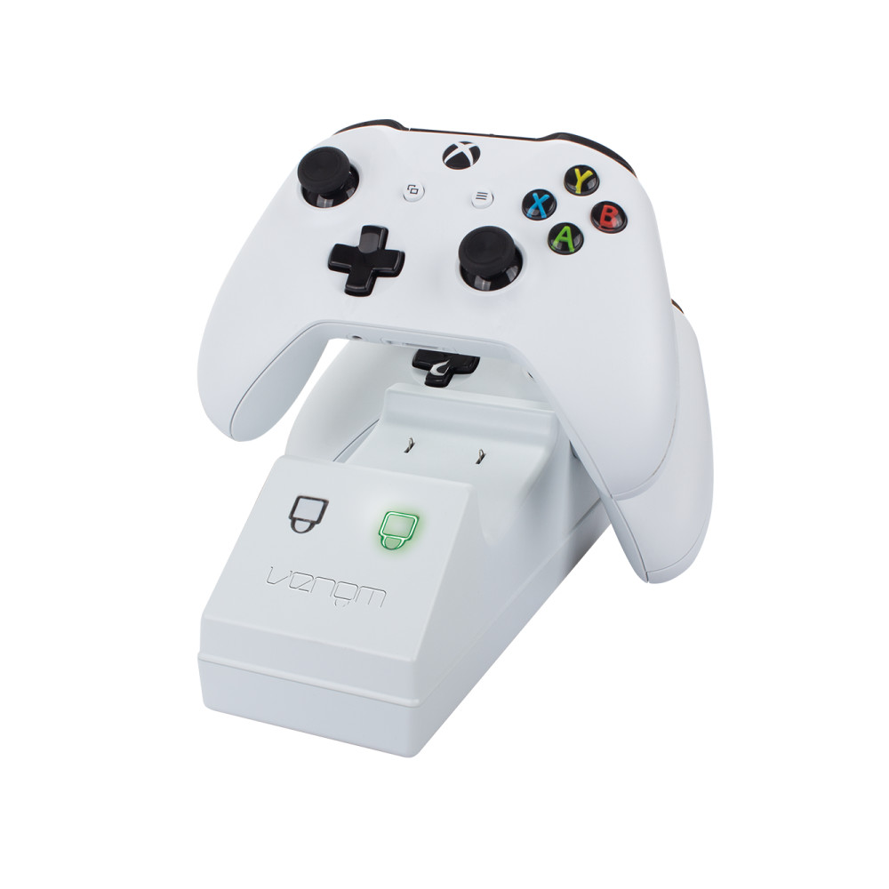 Statie de andocare pentru controlerele Xbox One combinata cu 2 baterii reincarcabile, Venom, Alb 2
