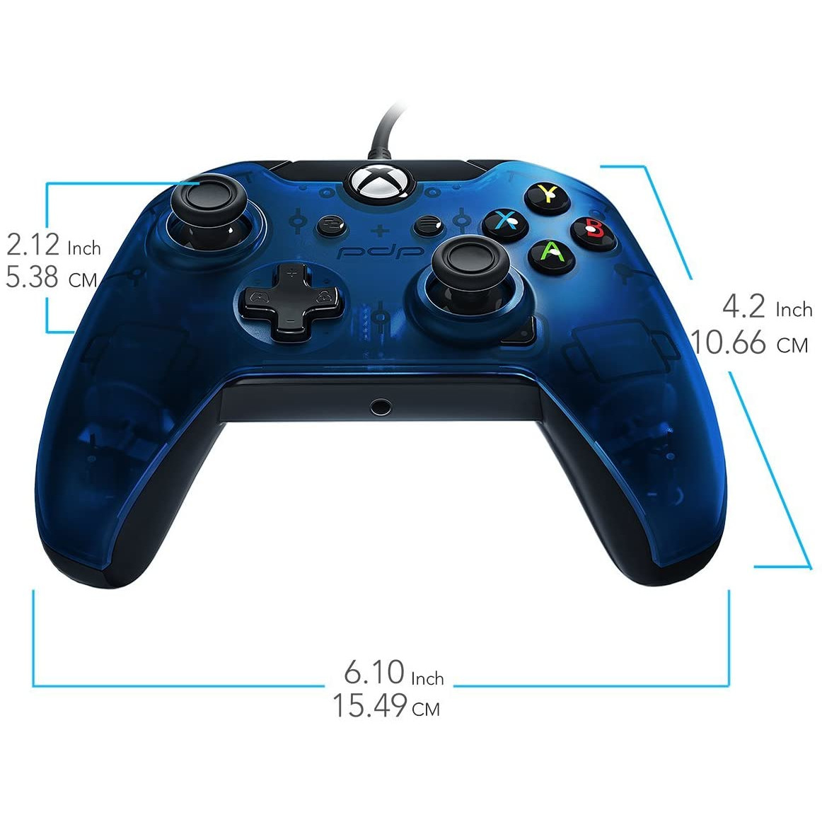 Controller PDP Wired Blue pentru Xbox One 3