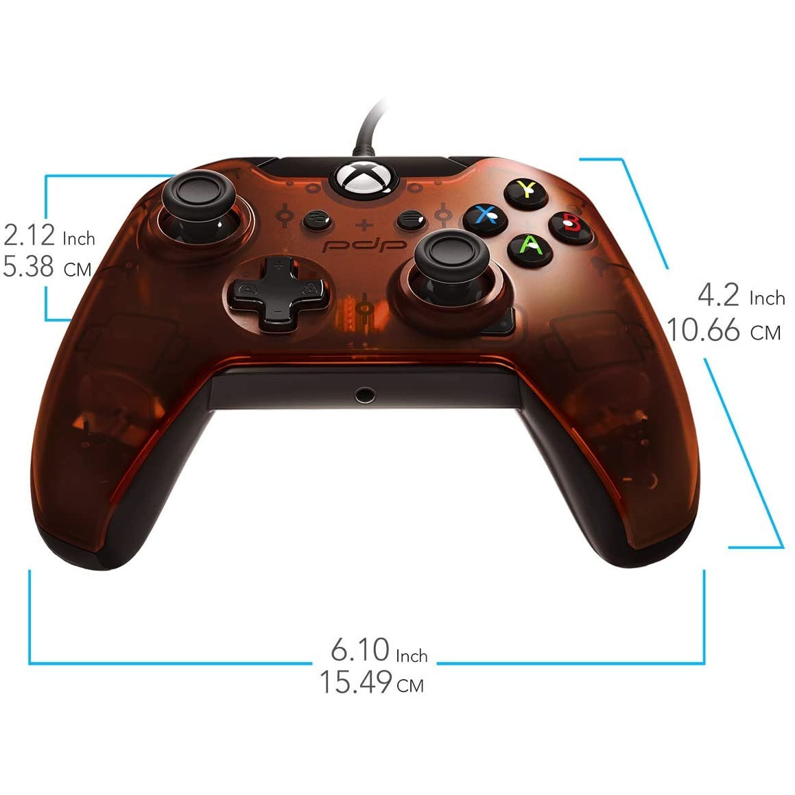 Controller Pdp Wired Orange Xbox One 3
