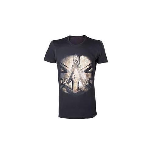 Tricou personalizat Assassins Creed Syndicate British Flag Negru marimea XL 0