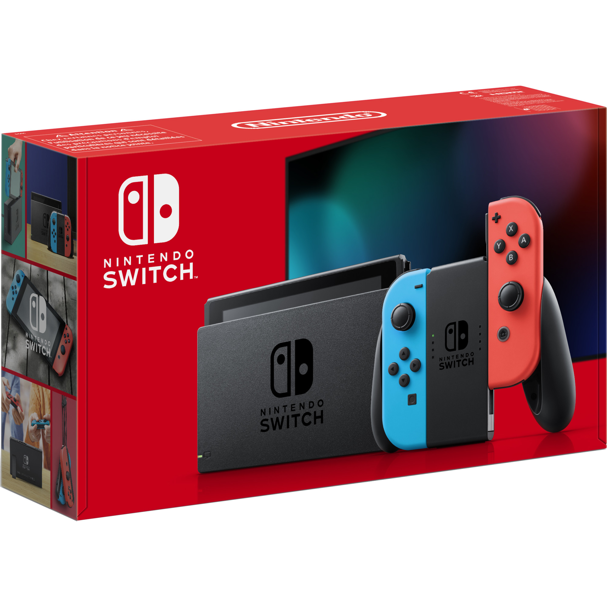Consola NINTENDO SWITCH (WITH NEON RED & NEON BLUE JOY-CONS) 0