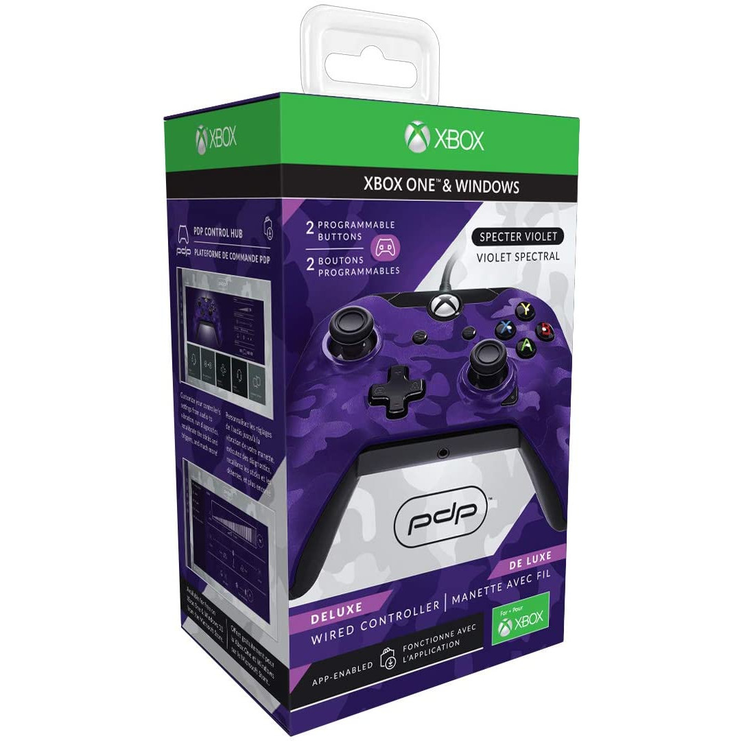 Controller Deluxe Wired Purple Camouflage Xbox One 1