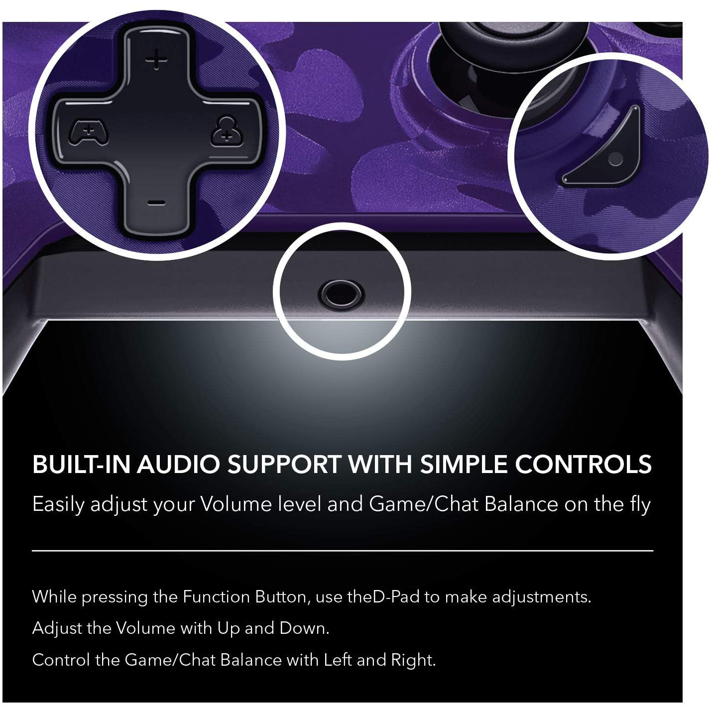 Controller Deluxe Wired Purple Camouflage Xbox One 8