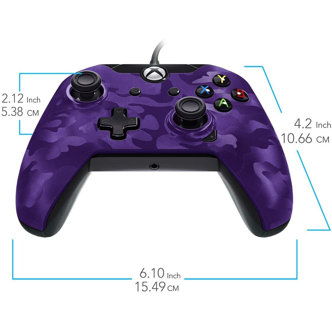 Controller Deluxe Wired Purple Camouflage Xbox One 5