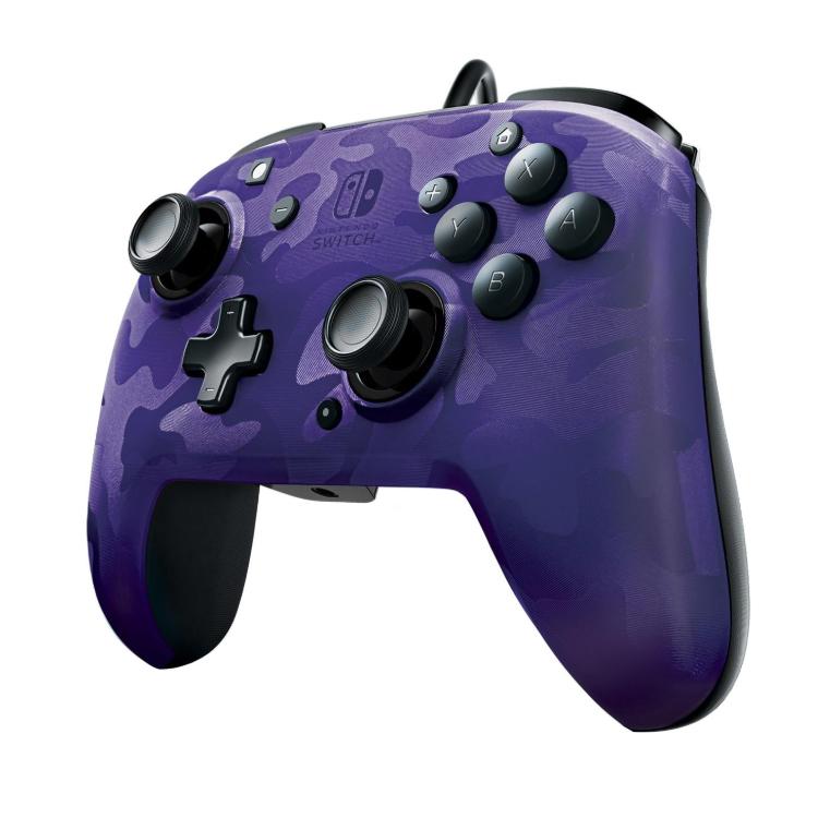 Controller Face Off Deluxe Controller Audio Camo Purple Nintendo Switch 2