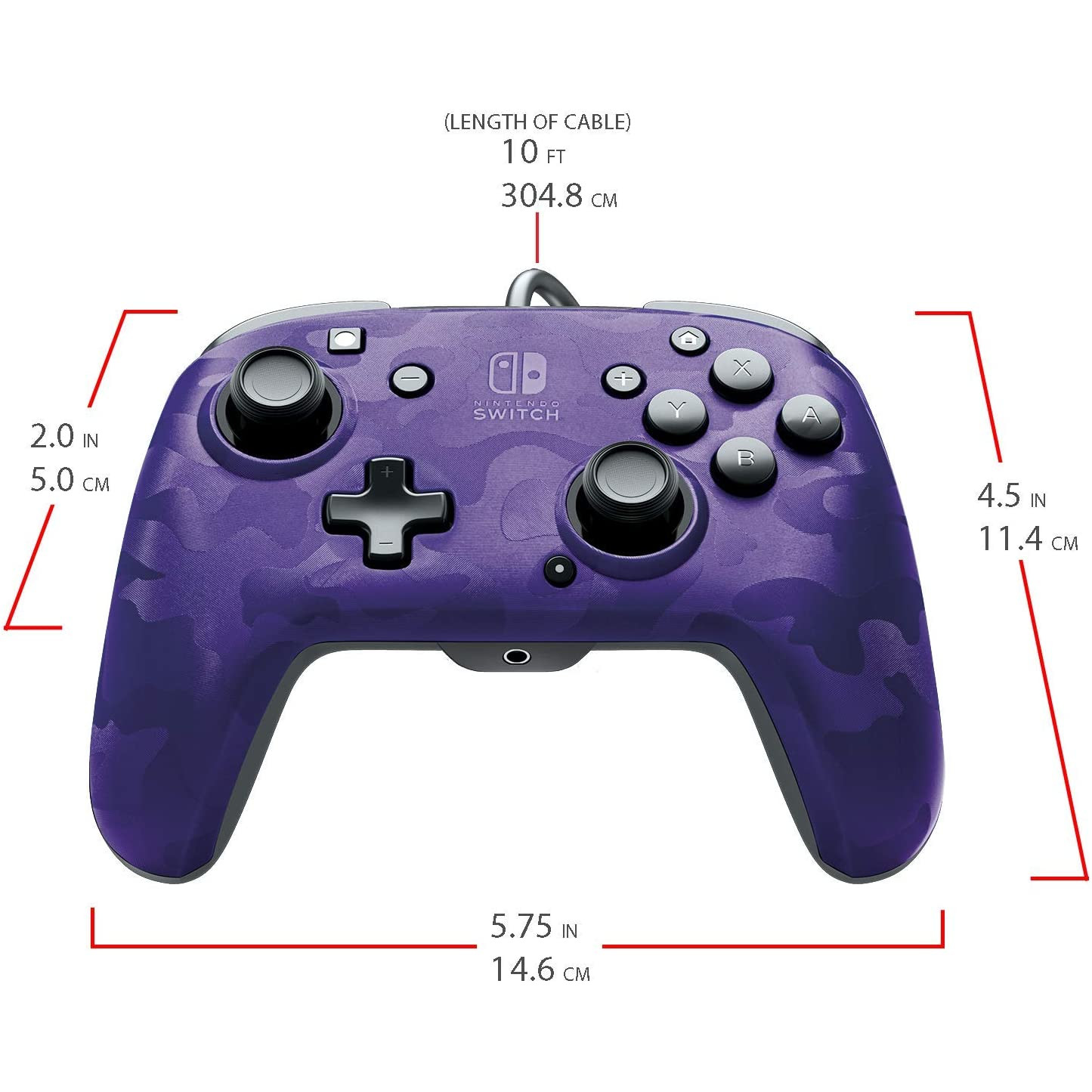 Controller Face Off Deluxe Controller Audio Camo Purple Nintendo Switch 3