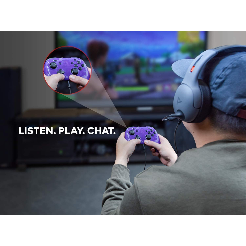 Controller Face Off Deluxe Controller Audio Camo Purple Nintendo Switch 5