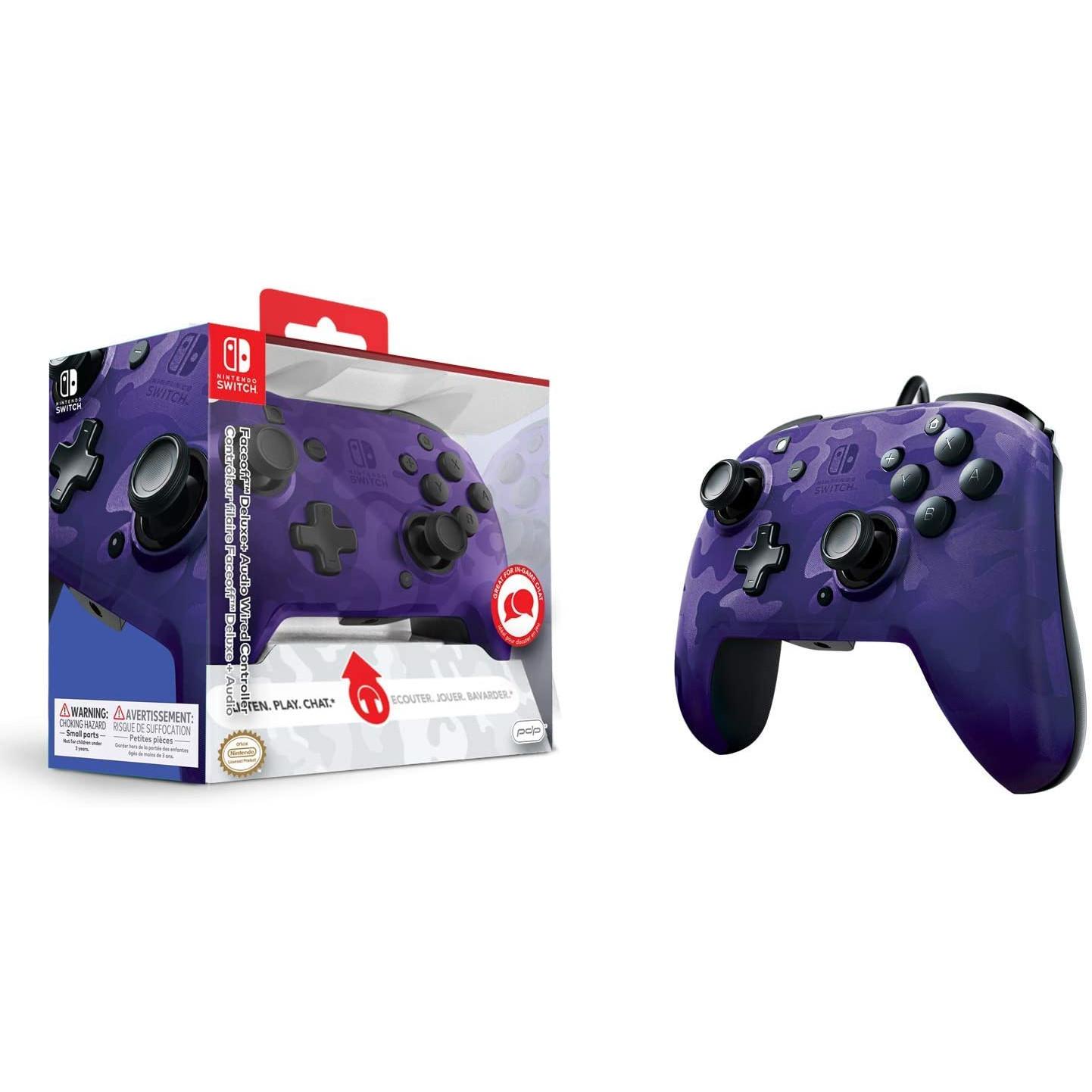 Controller Face Off Deluxe Controller Audio Camo Purple Nintendo Switch 9