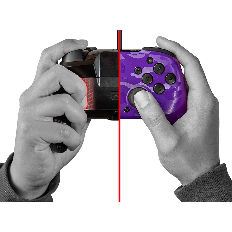 Controller Face Off Deluxe Controller Audio Camo Purple Nintendo Switch 7