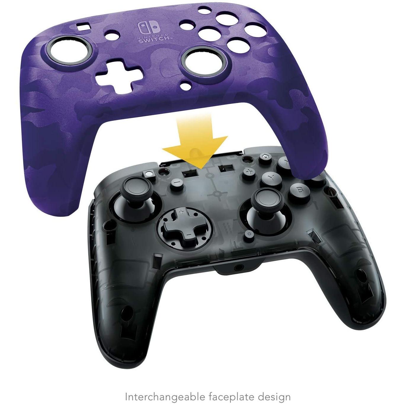 Controller Face Off Deluxe Controller Audio Camo Purple Nintendo Switch 6