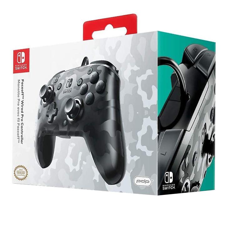 Controller Face Off Deluxe Audio Camo Black Nintendo Switch 1