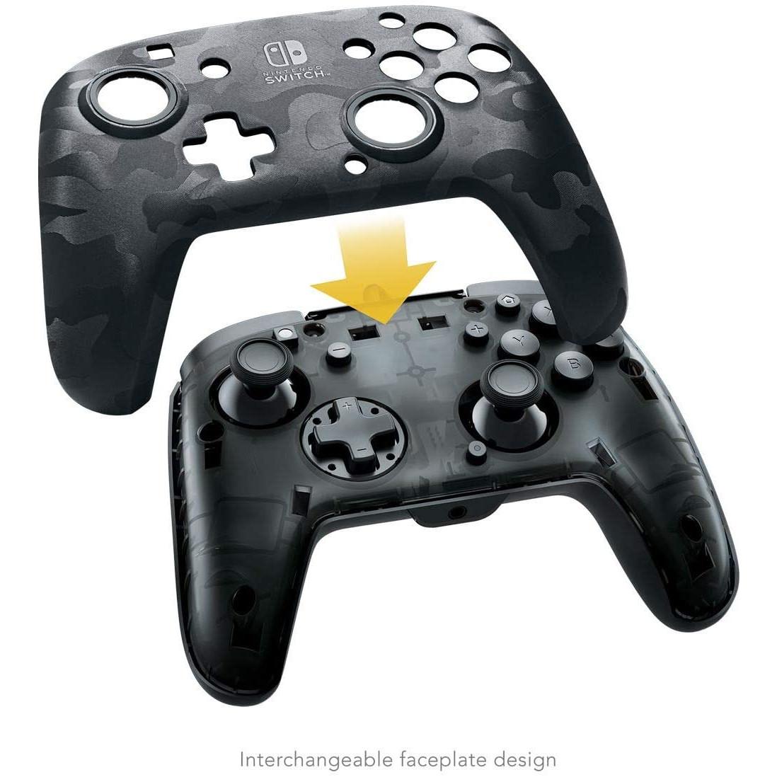 Controller Face Off Deluxe Audio Camo Black Nintendo Switch 2