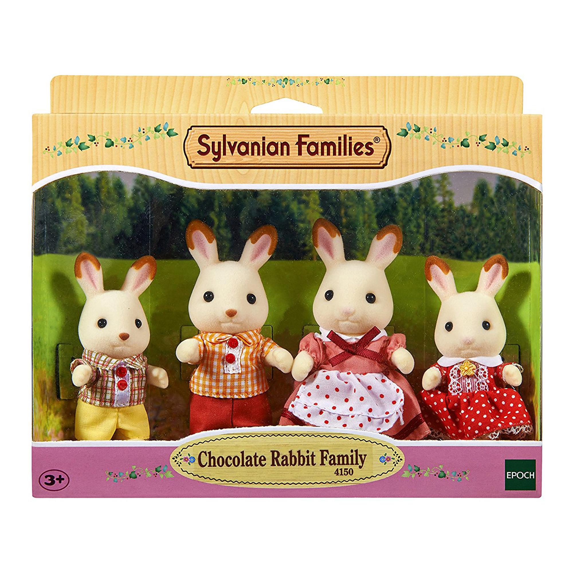 Jucarie Sylvanian Families Chocolate Rabbit Family 2