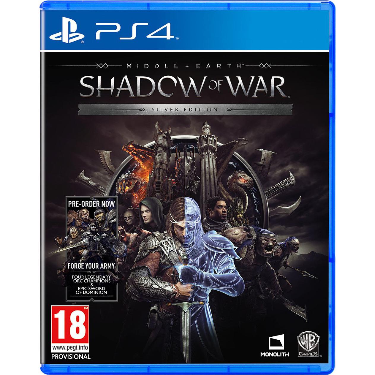 Joc Middle Earth Shadow Of War Silver Edition pentru PlayStation 4 0